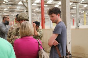 Atendees had the chance to speak to serving soldiers about the training they do and skills they develop