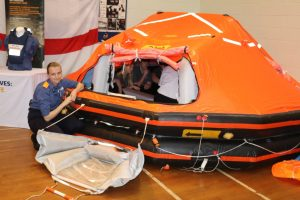 Showing students a lifeboat