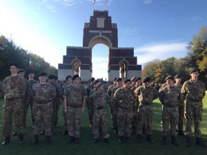LNR ACF on parade at Thiepval Memorial