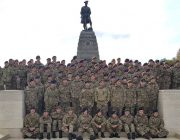 Nottinghamshire Cadets at monument   reduced