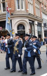 The Colour Party during the parade in Nottingham