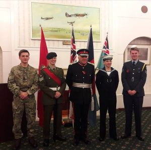 The ceremony was held in the Officer's Mess at RAF Digby