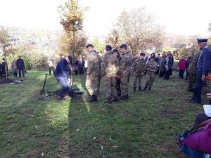 384 (Mansfield) Squadron at the tree planting ceremony