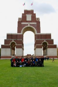 Cadets at Thiepval Memorial