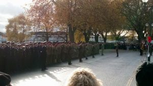 Cadets at the memorial service at Victoria Embankment in Nottingham