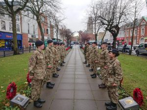 Cadets in Boston on Remembrance Sunday last year