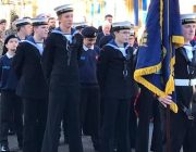 Cadets during the Remembrance Parade in Brackley earlier this year