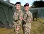 Lance Corporal Sallyann Foster and Private Chantelle Bartlett