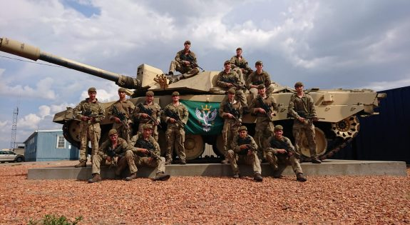 The Reserves who took part in the exercise