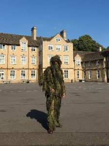 Jack getting ready to take part in fieldcraft