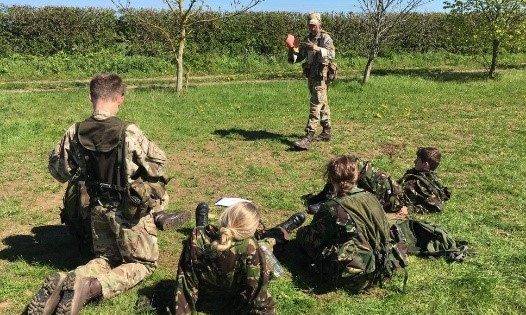 Jack giving a Fieldcraft lesson to younger cadets