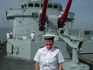Lorraine aboard HMS Glasgow