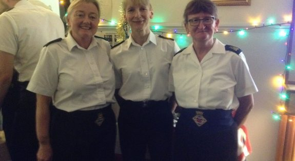 With shipmates during HMS Sherwood Carol Concert