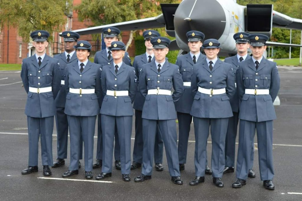 Suzanne (front row, second from right) at her Reservist graduation