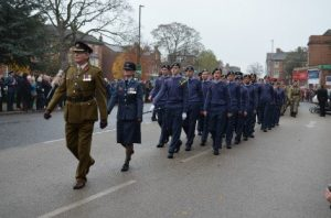 The RAF Section during a Remembrance Parade