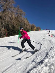 One of the cadets taking on the slalom