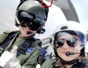 Daria and the pilot during her Air Experience Flight 2