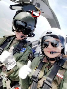 Daria and the pilot during her Air Experience Flight