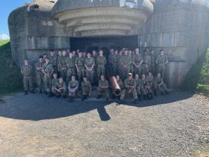 Cadets from Lincolnshire at a defensive outpost