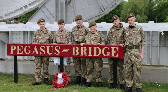 Derbyshire Army Cadets at the Pegasus Bridge Museum
