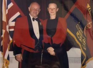 Maria at a an event as a Cadet