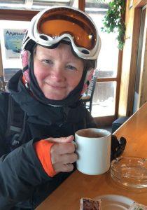 Maria on the ski trip