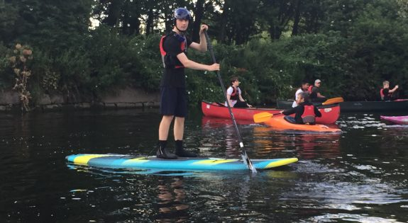 Leicester, South Leicester and Market Harborough Sea Cadets kayaking, canoeing and paddle boarding on the Grand Union Canal with District Padre Pascal