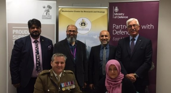 Representatives from Trent Education Centre and Westminster Centre for Research and Strategy sign the Armed Forces Covenant