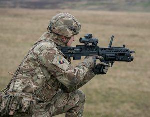 Reservist in markmanship training