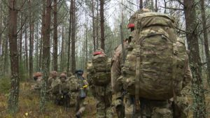 Ex Iron Wolf troops march in Lithuania