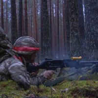 Ex Iron Wolf troops shooting
