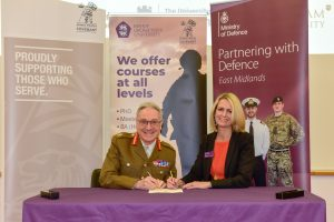 Bishop Grossetest sign the Armed Forces Covenant