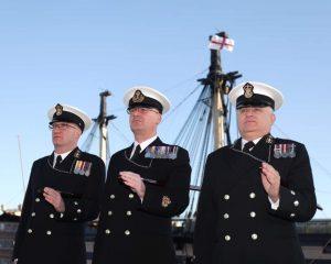 Representatives of HMS Sherwood
