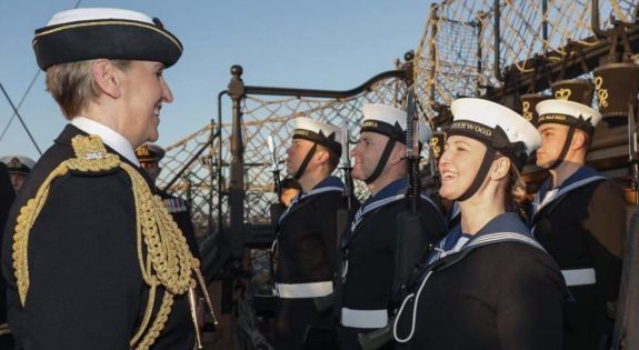 New Commodore speaks to naval personnel