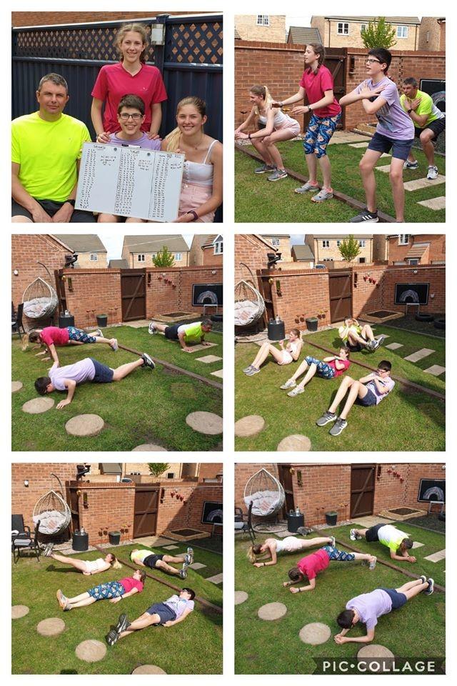 Aplin family fitness challenge