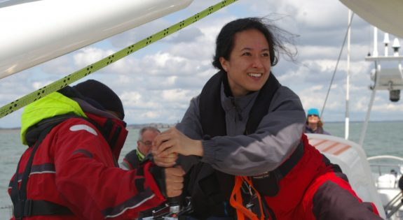 Photo of Kiera volunteering on Tall Ships Youth Trust Voyage