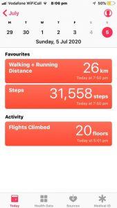 A Derbyshire Cadets individual walking statistics