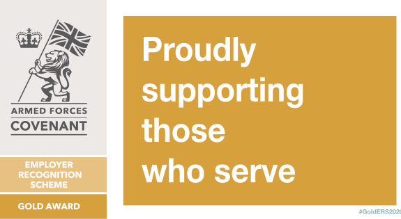 Gold ERS logo - Proudly supporting those who serve