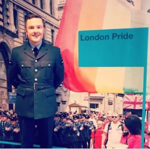 Chris Madden at London Pride 2019