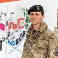 Major Angela Laycock planning the NHS Nightingale hospital at Birmingham NEC