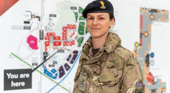 Major Angela Laycock planning the NHS Nightingale hospital at Birmingham NEC