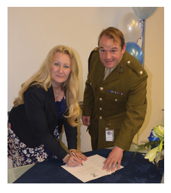 One To One Support Services signing the Armed Forces Covenant
