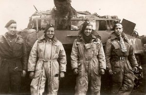 Army Sgt Sydney Collis and Crew with tank