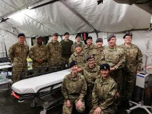 Major Rachel Reynolds with 212 Field Hospital
