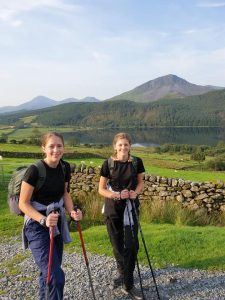 The Aplin sisters hiking in Snowdonia