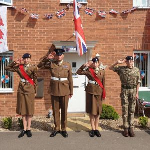 The Aplin family, all involved in Army Cadets