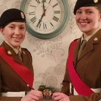 Aplin sisters hand over Lord Lieutenant's badge