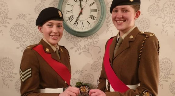 Aplin sisters hand over Lord Lieutenant's badge