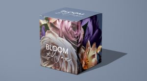 Gift box from Bloom & Wax with floral photograph