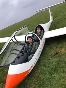 Glider with two RAF Air Cadets